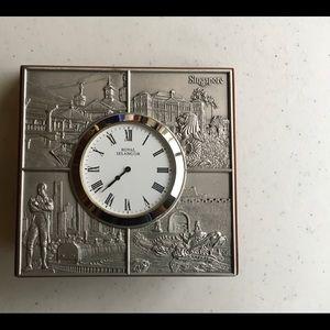 Royal Selangor Pewter & Wood Clock